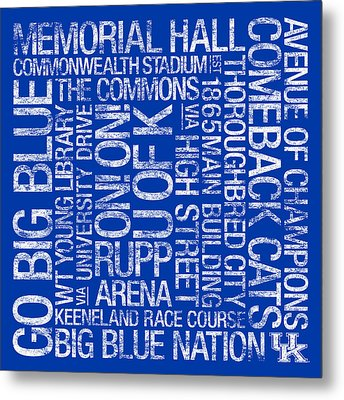 Kentucky College Colors Subway Art Metal Print by Replay Photos