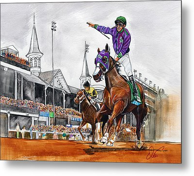 Kentucky Derby Winner California Chrome Metal Print