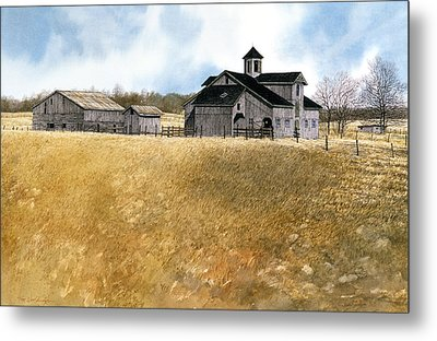 Metal Print featuring the painting Kentucky Farm by Tom Wooldridge