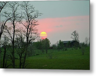 Kentucky Sunset Metal Print by Donald Lively