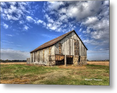 Kentucky Tobacco Barn Metal Print by Wendell Thompson