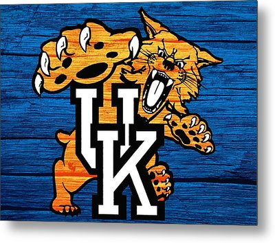 Kentucky Wildcats Barn Door Metal Print