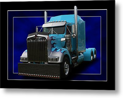 Kenworth Customised Metal Print