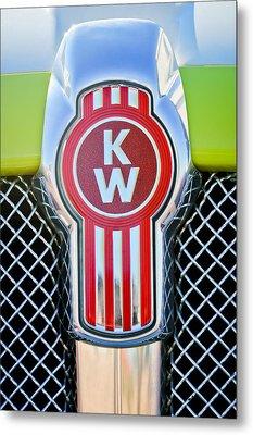 Kenworth Truck Emblem -1196c Metal Print by Jill Reger