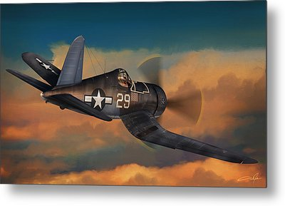 Kepford On Patrol Metal Print by Dale Jackson