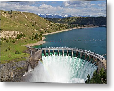 Kerr Dam Releasing Water Metal Print by Chuck Haney