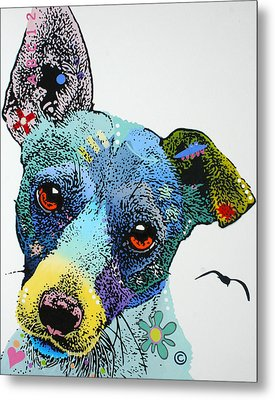 Metal Print featuring the painting Jack by Luis Ludzska