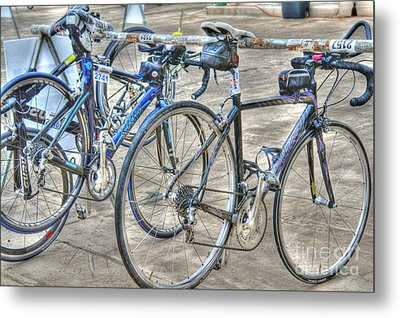 Kestrel And Specialized--ironman Rides Metal Print by David Bearden