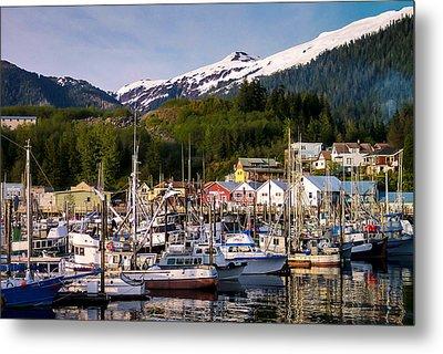 Ketchikan Alaska Dock Metal Print by Michael J Bauer