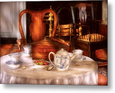 Kettle -  Have Some Tea - Chinese Tea Set Metal Print by Mike Savad