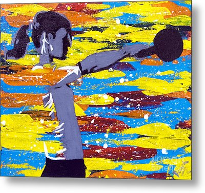 Metal Print featuring the painting Kettlebell by Denise Deiloh