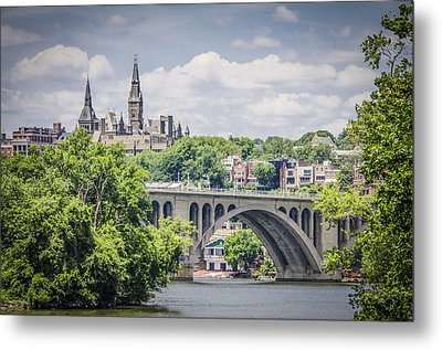 Key Bridge And Georgetown University Metal Print