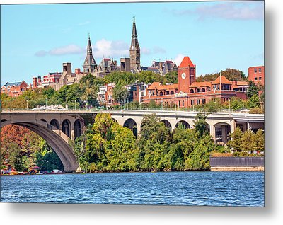 Key Bridge, Potomac River, Georgetown Metal Print