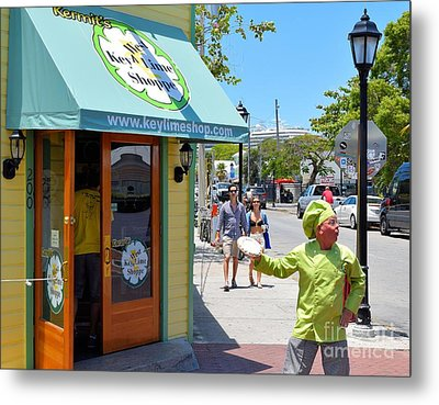 Key Lime Pie Man In Key West Metal Print