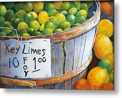 Key Limes Ten For A Dollar Metal Print