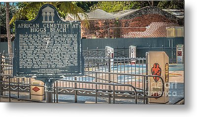 Key West African Cemetery 7 - Key West - Panoramic - Hdr Style Metal Print by Ian Monk