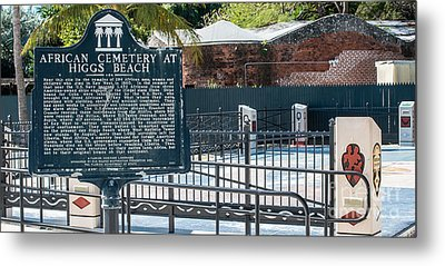 Key West African Cemetery 7 - Key West - Panoramic  Metal Print by Ian Monk