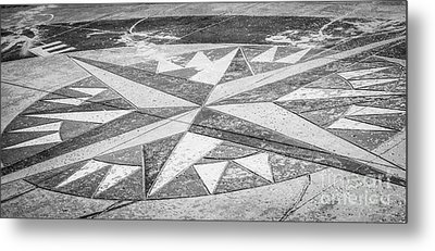 Key West African Cemetery - Key West - Black And White Metal Print by Ian Monk