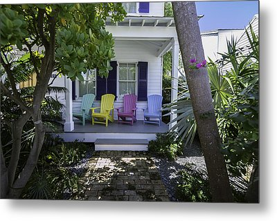 Key West Chairs Metal Print by Paul Plaine