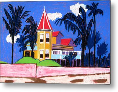 Key West Southern House Metal Print by Lesley Giles