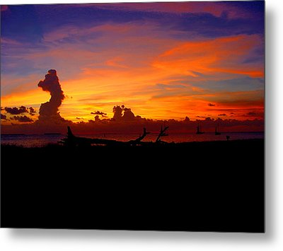 Key West Sun Set Metal Print by Iconic Images Art Gallery David Pucciarelli