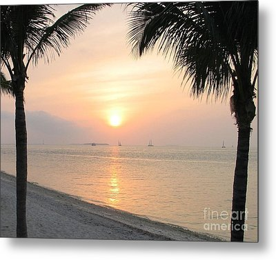 Metal Print featuring the photograph Key West Sunet by Shelia Kempf