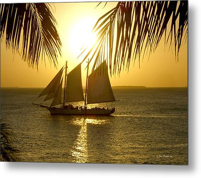 Metal Print featuring the photograph Key West Sunset by Joan  Minchak