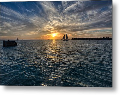 Key West Sunset Metal Print by John Hoey