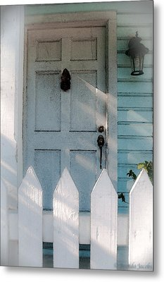 Key West Welcome To My Home Metal Print by Brenda Jacobs