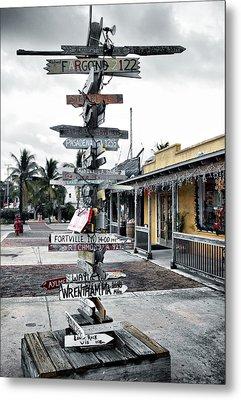 Key West Wharf Metal Print