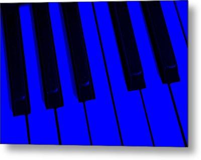 Keyboard Blues Metal Print by John Stephens