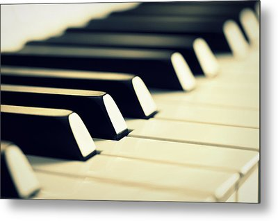 Keyboard Of A Piano Metal Print by Chevy Fleet