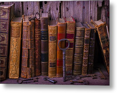 Keys And Books Metal Print