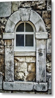 Keystone Window Metal Print by Heather Applegate