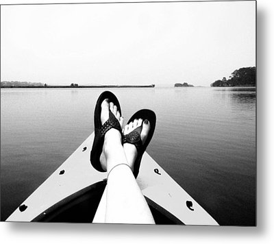 Kick Back Metal Print by Christy Usilton