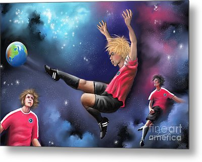 Kick Off Metal Print