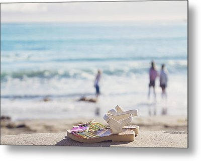 Kick Off Your Shoes... And Play Metal Print by Cindy Garber Iverson