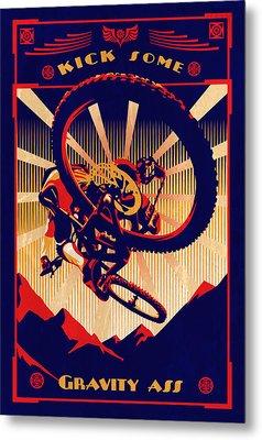 Kick Some Gravity Ass Metal Print