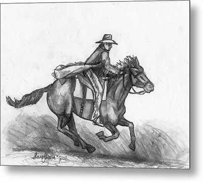 Metal Print featuring the drawing Kickin Up Dust by Shana Rowe Jackson