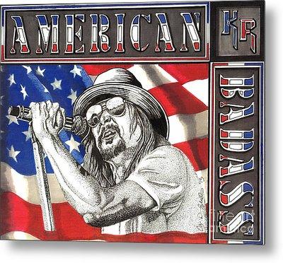 Kid Rock American Badass Metal Print