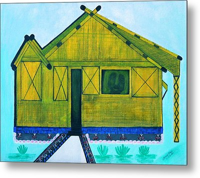 Kiddie House Metal Print by Lorna Maza