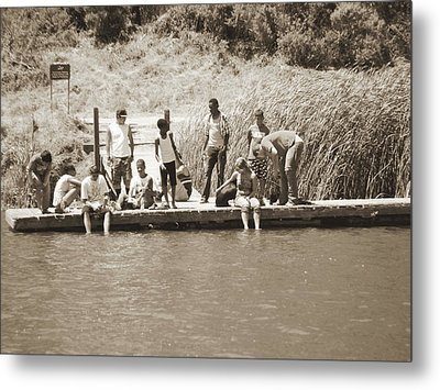 Metal Print featuring the photograph Kids At Lake Chabot by Hiroko Sakai