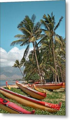 Sugar Beach Kihei Maui Hawaii Metal Print by Sharon Mau
