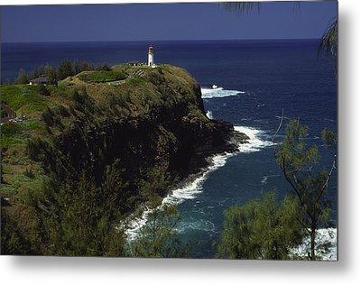 Kilauea Lighthouse Metal Print by Morris  McClung