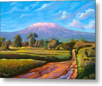 Kilimanjaro Metal Print by Anthony Mwangi