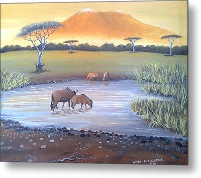 Kilimanjaro Metal Print by Hilton Mwakima