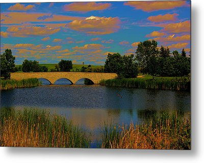 Kilkona Park Bridge Metal Print by Larry Trupp