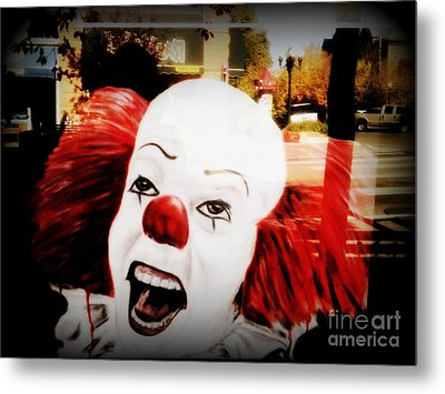 Killer Clowns On The Loose Metal Print by Kelly Awad