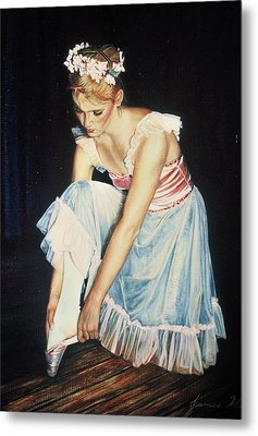 Kim At Her Dress Rehersal Metal Print