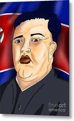 Kim Jong Un Metal Print by Ironheart Illustrations
